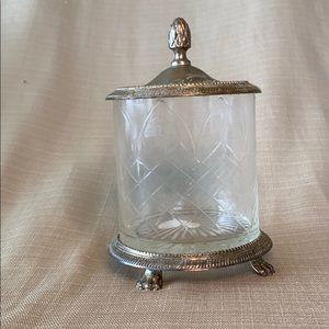 Antique Vanity Jar with Lid | Andrea by Sadek
